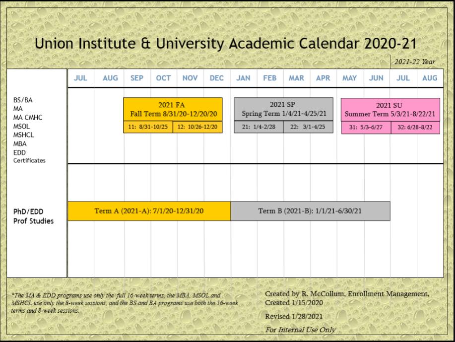 Uvm Academic Calendar 2022.Academic Calendar Main View Schedule Of Classes Campusweb Home